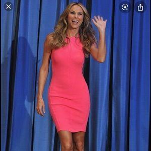 McQ Alexander McQueen hot pink ribbed tank dress